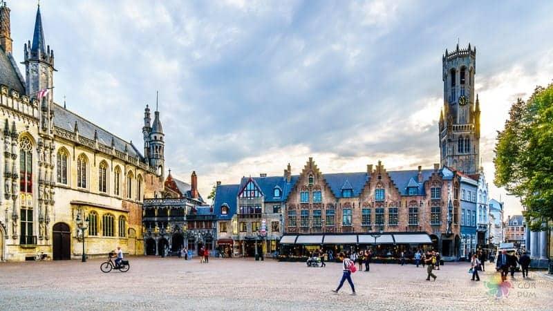 tarihi merkez Brugge'de konaklama