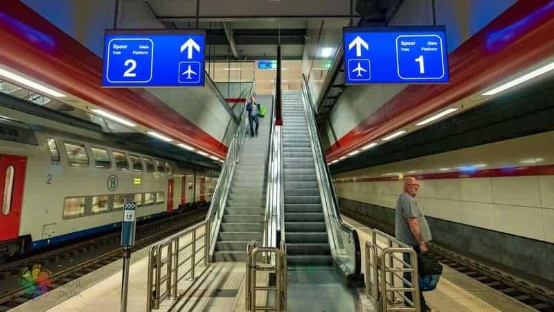 Brüksel havaalanı transfer tren