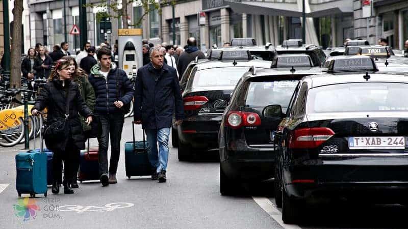 Brüksel merkezden havaalanına ulaşım taksi