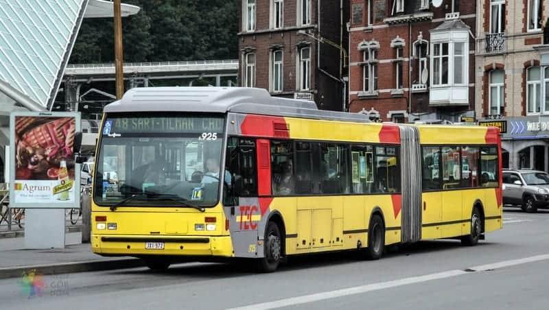TEC Bus A Brüksel şehir merkezi havaalanı otobüsü
