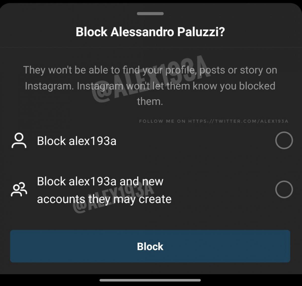 Instagram, daha gelişmiş bir engelleme özelliği sunacak #1